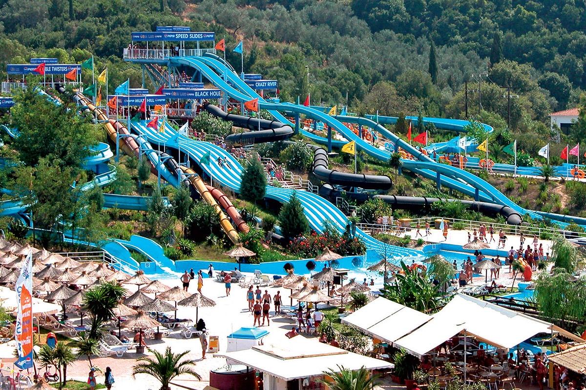 GREFAQU8 splashworld aqualand resort vue generale sejour corfou grece tui