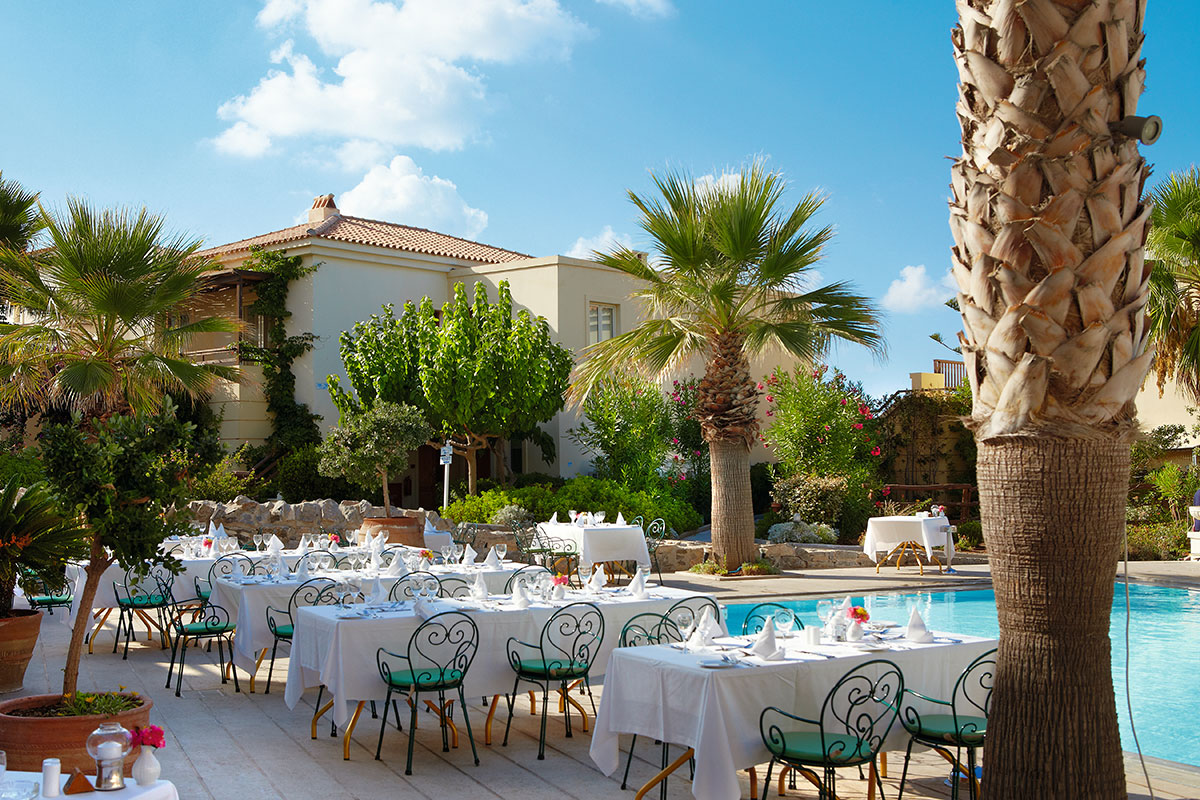 GREHMPA terrasse restaurant hotel grecotel club marine palace sejour crete tui