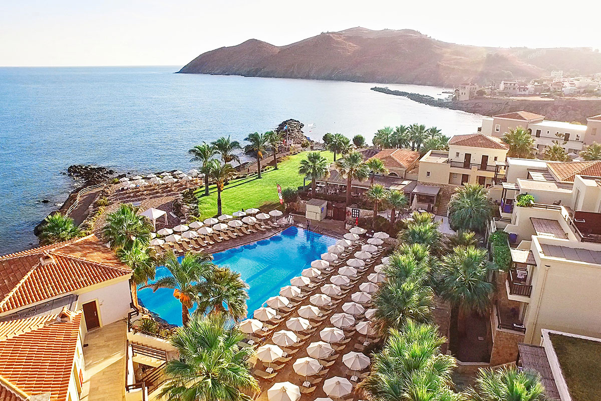 GREHMPA vue generale hotel grecotel club marine palace sejour crete tui