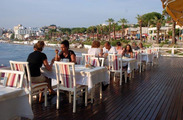 Restaurant en terrasse