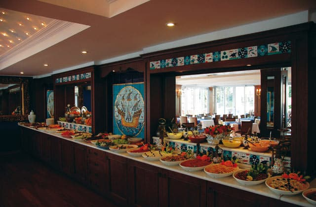 Buffet du restaurant